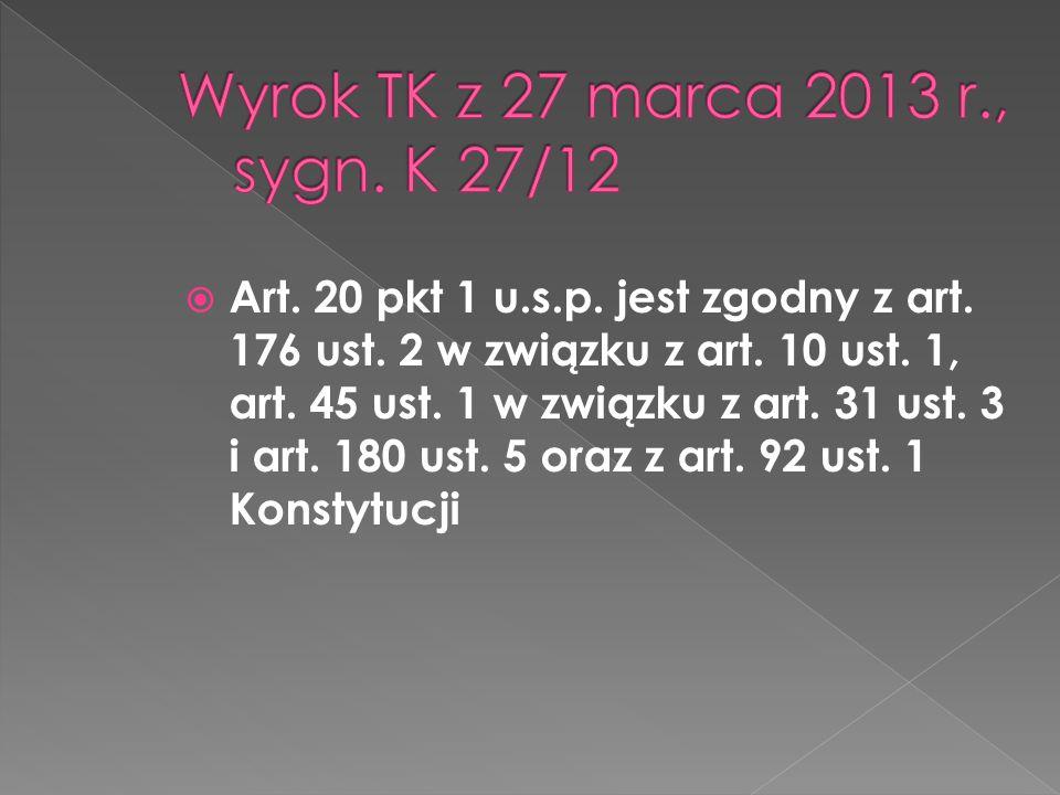 Wyrok TK z 27 marca 2013 r., sygn. K 27/12