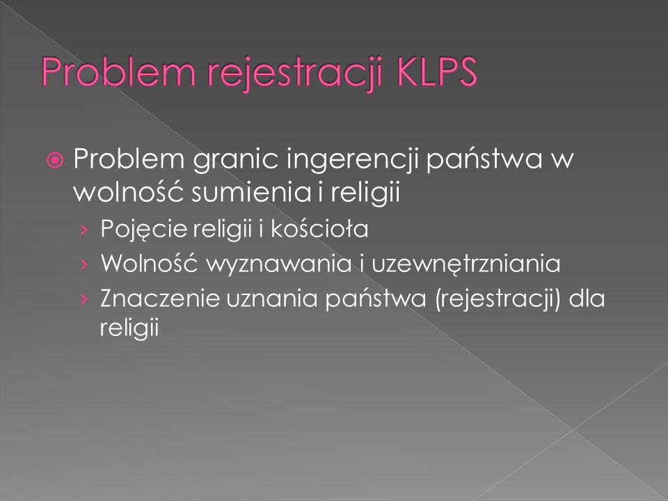 Problem rejestracji KLPS