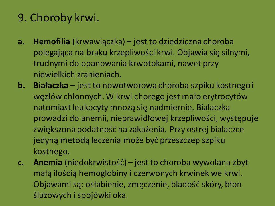 9. Choroby krwi.