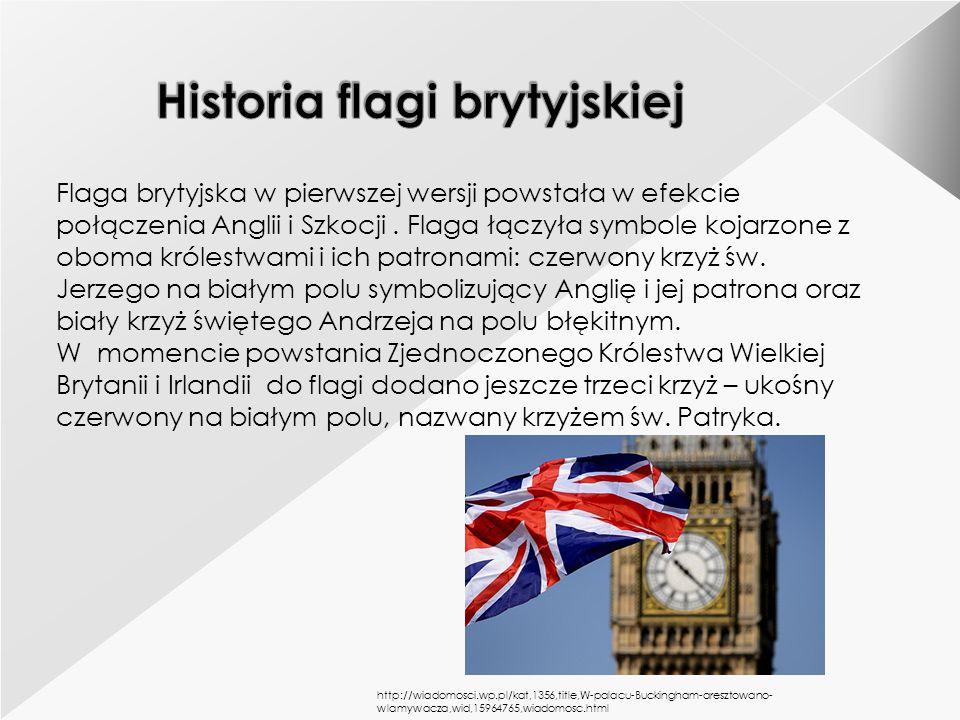 Historia flagi brytyjskiej
