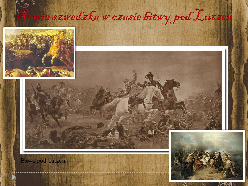 Armia szwedzka w czasie bitwy pod Lutzen