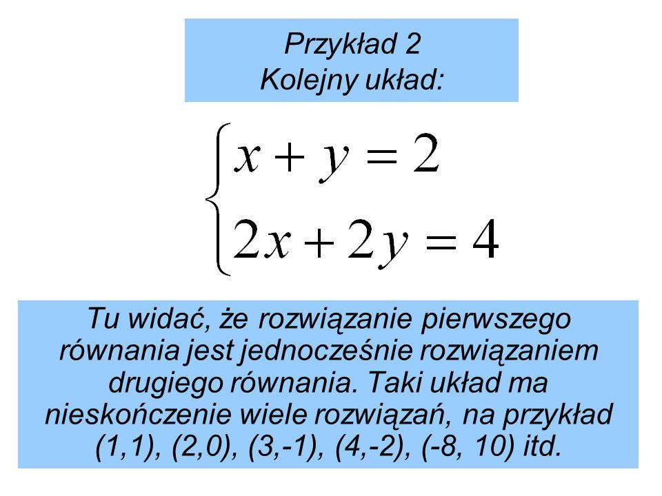 Przykład 2 Kolejny układ: