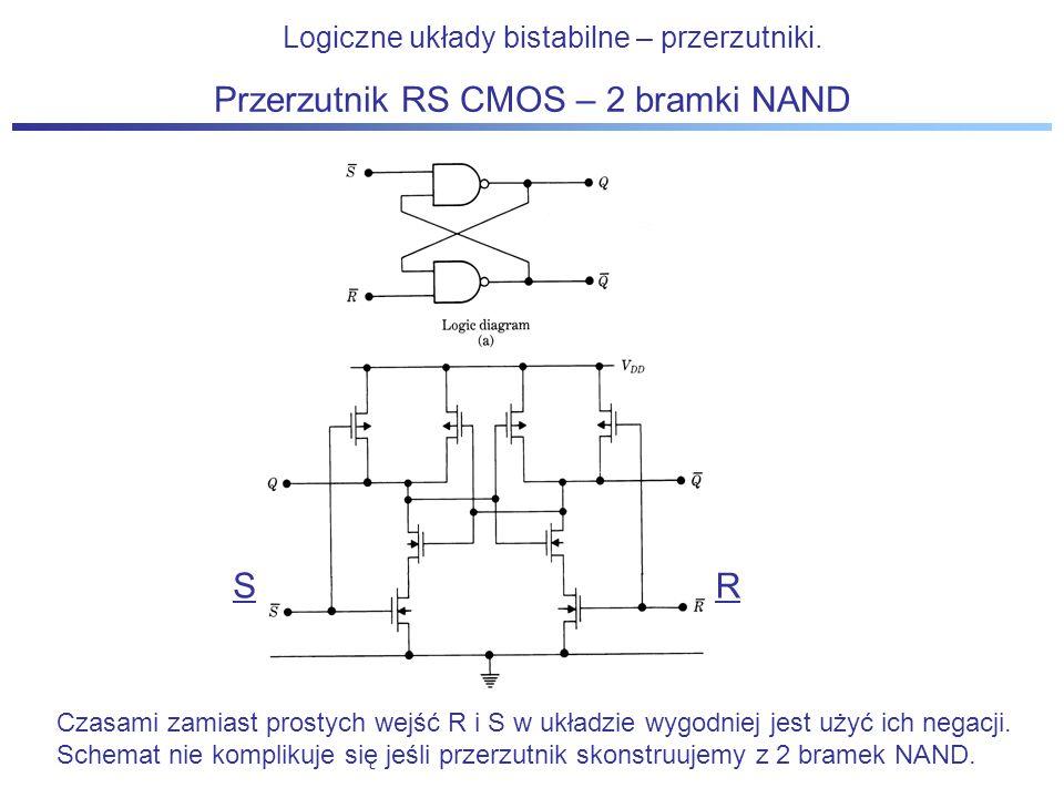 Przerzutnik RS CMOS – 2 bramki NAND