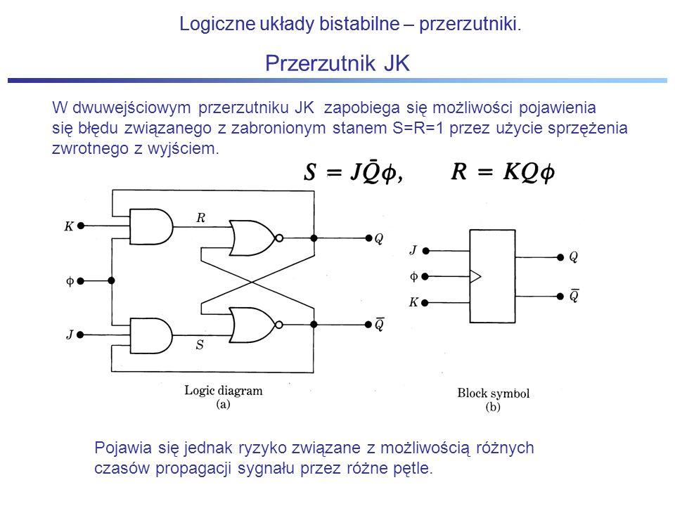 Przerzutnik JK Logiczne układy bistabilne – przerzutniki.