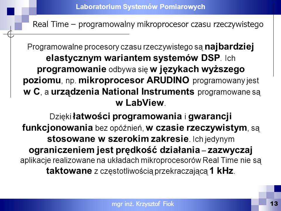 Real Time – programowalny mikroprocesor czasu rzeczywistego