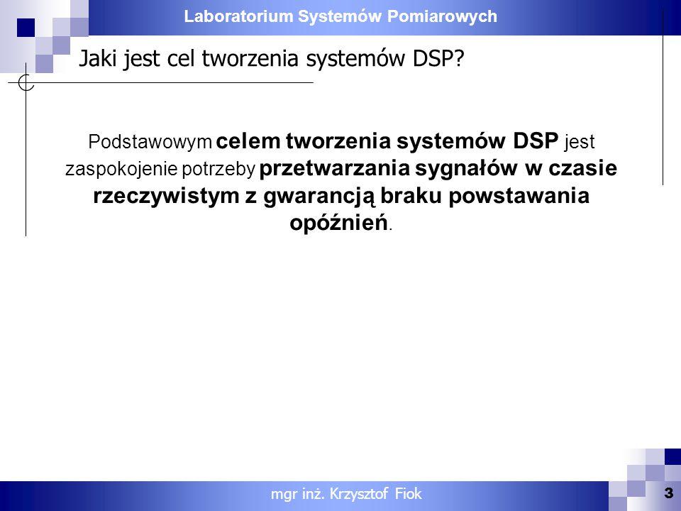 Jaki jest cel tworzenia systemów DSP