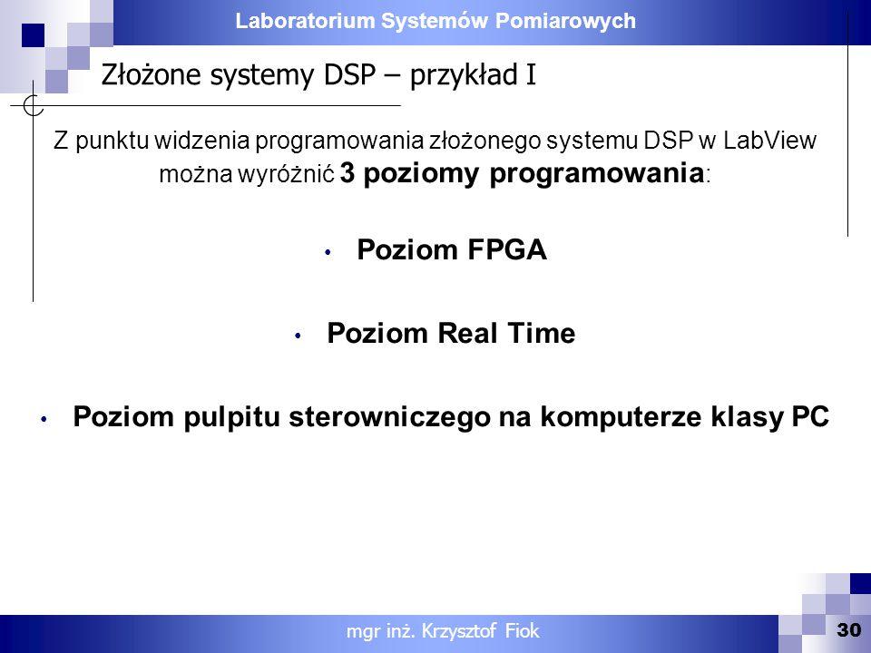 Złożone systemy DSP – przykład I