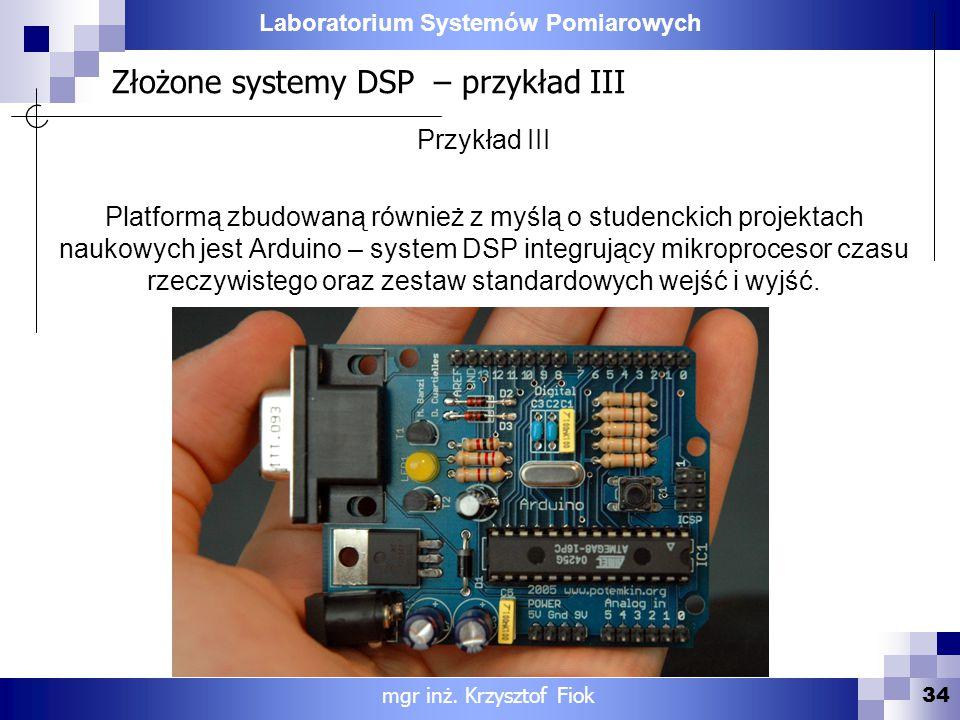 Złożone systemy DSP – przykład III