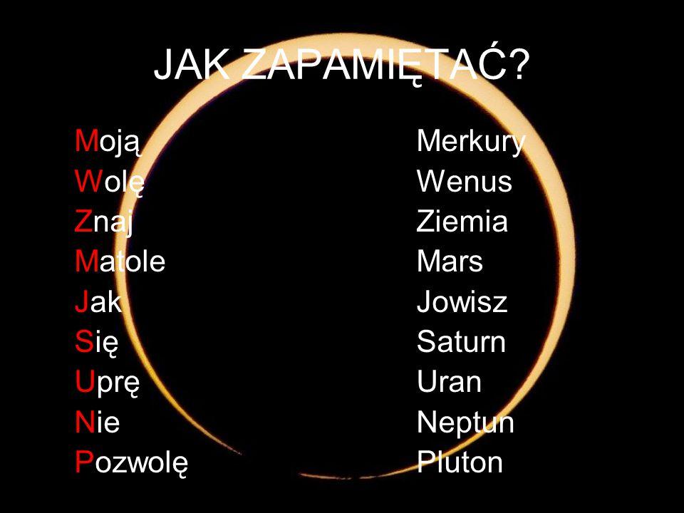JAK ZAPAMIĘTAĆ Moją Merkury Wolę Wenus Znaj Ziemia Matole Mars