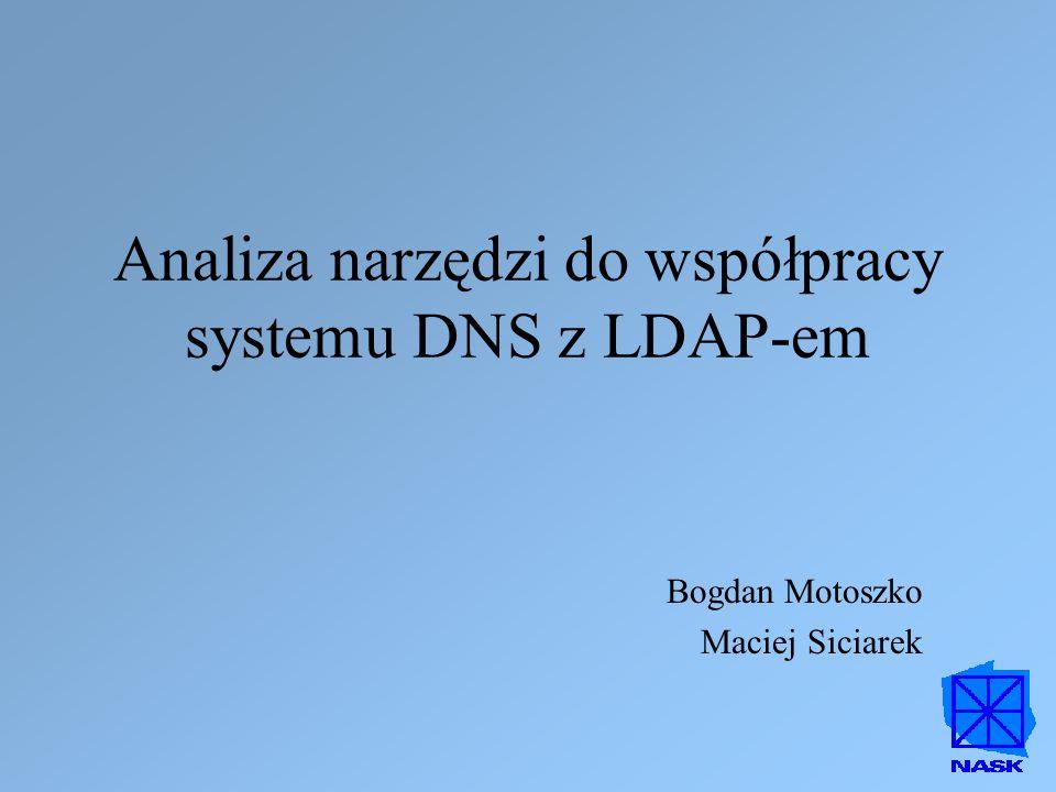 Analiza narzędzi do współpracy systemu DNS z LDAP-em