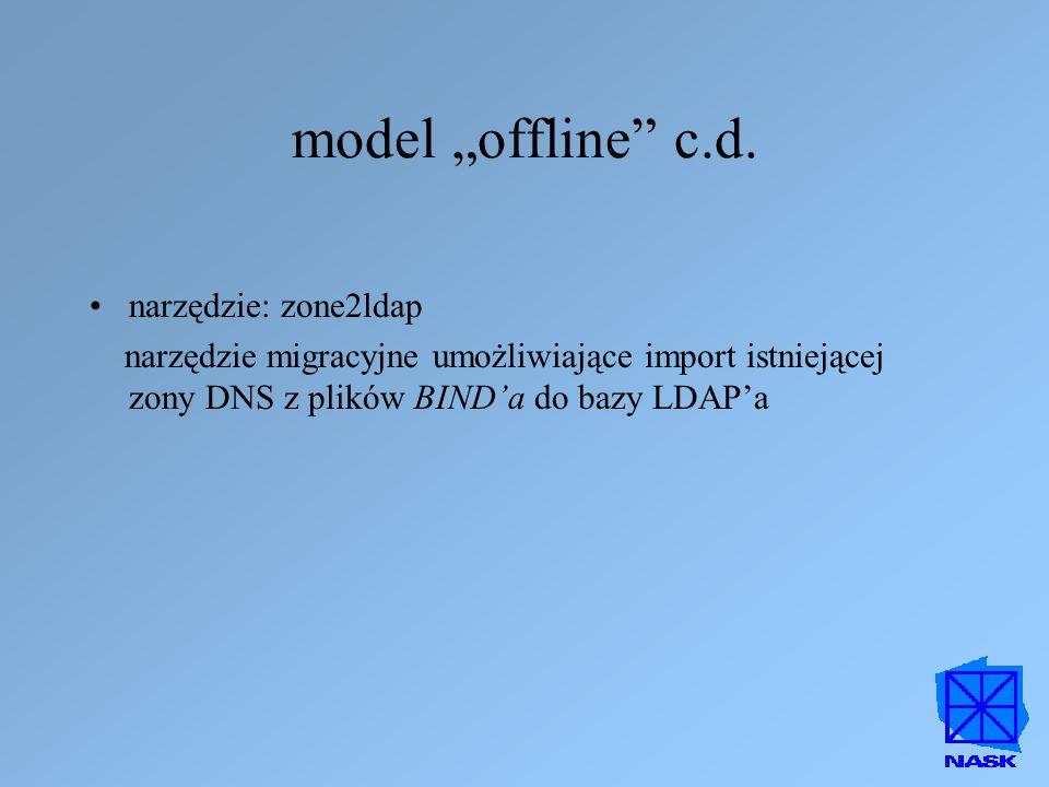 "model ""offline c.d. narzędzie: zone2ldap"