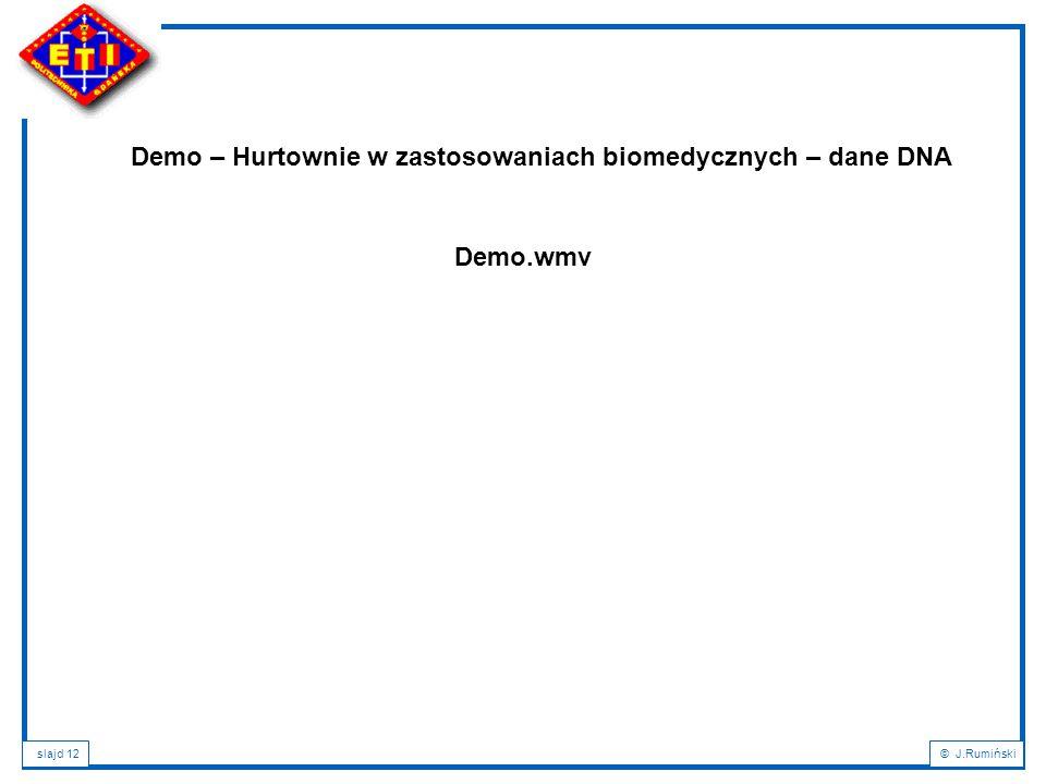 Demo – Hurtownie w zastosowaniach biomedycznych – dane DNA