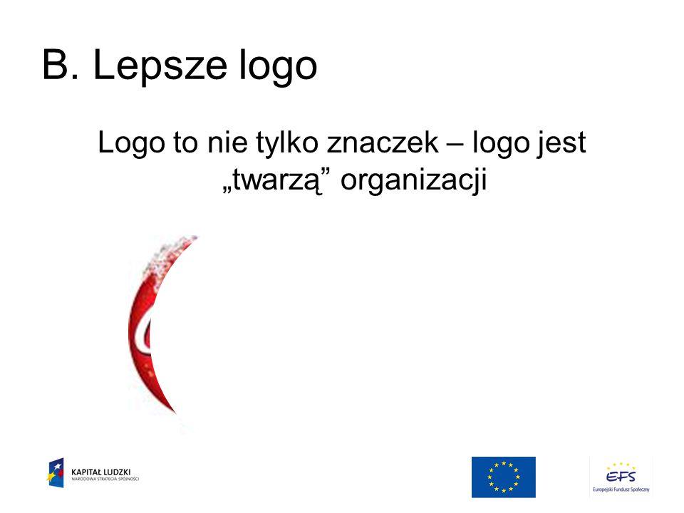 """Logo to nie tylko znaczek – logo jest """"twarzą organizacji"""
