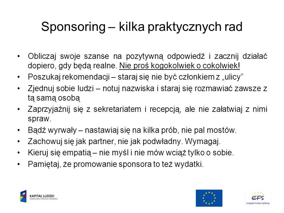 Sponsoring – kilka praktycznych rad