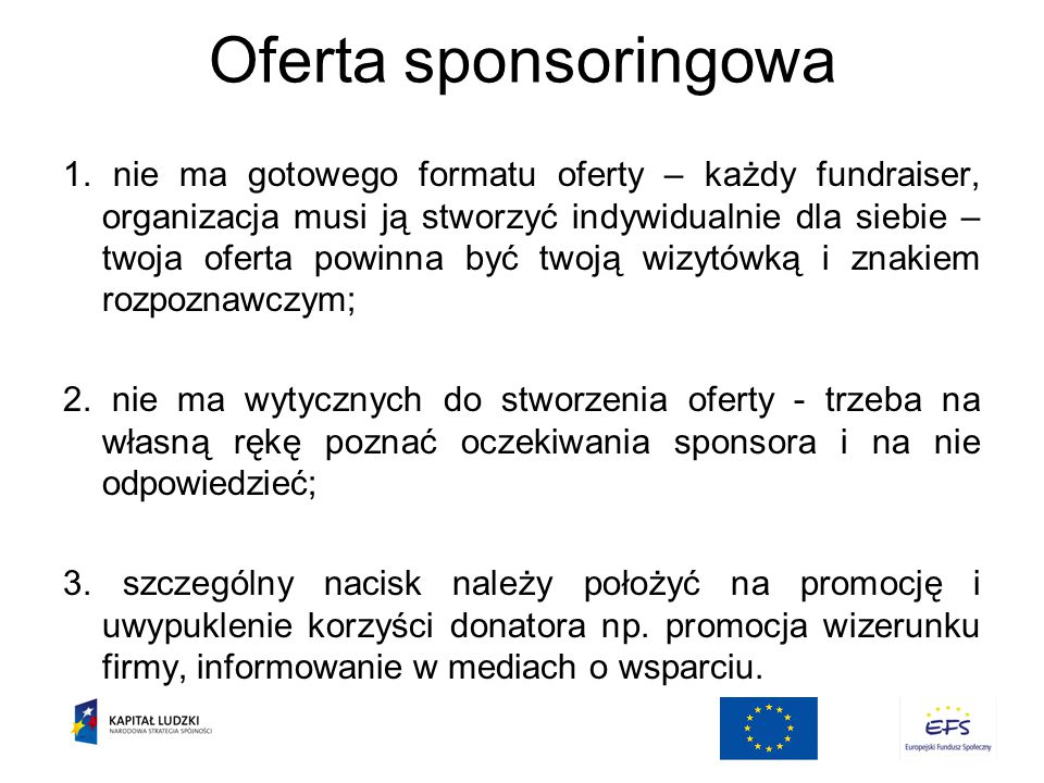 Oferta sponsoringowa