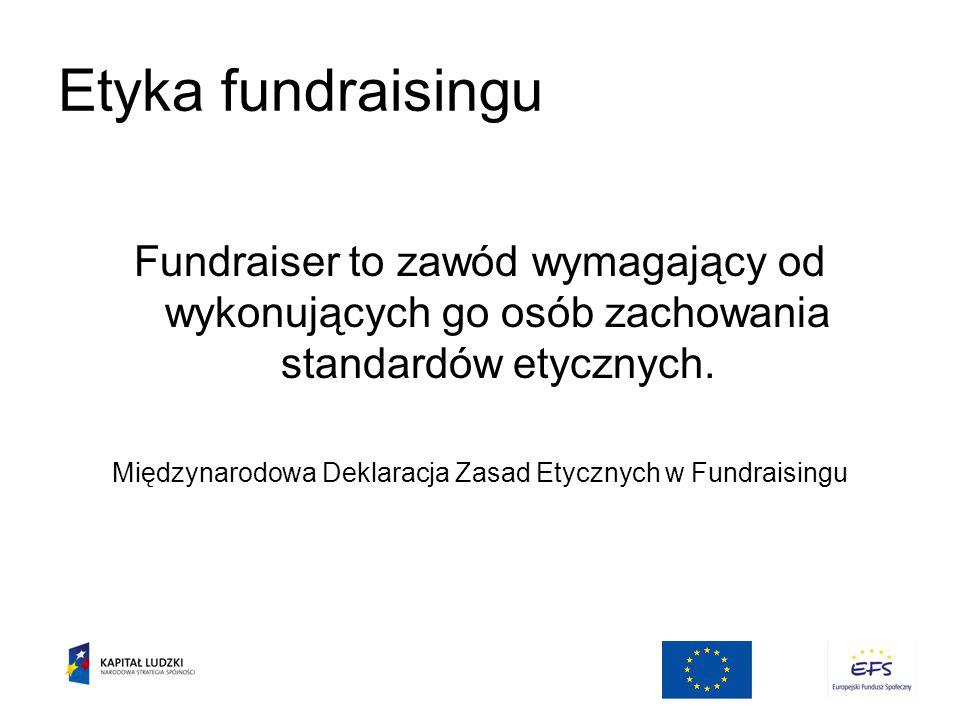 Międzynarodowa Deklaracja Zasad Etycznych w Fundraisingu