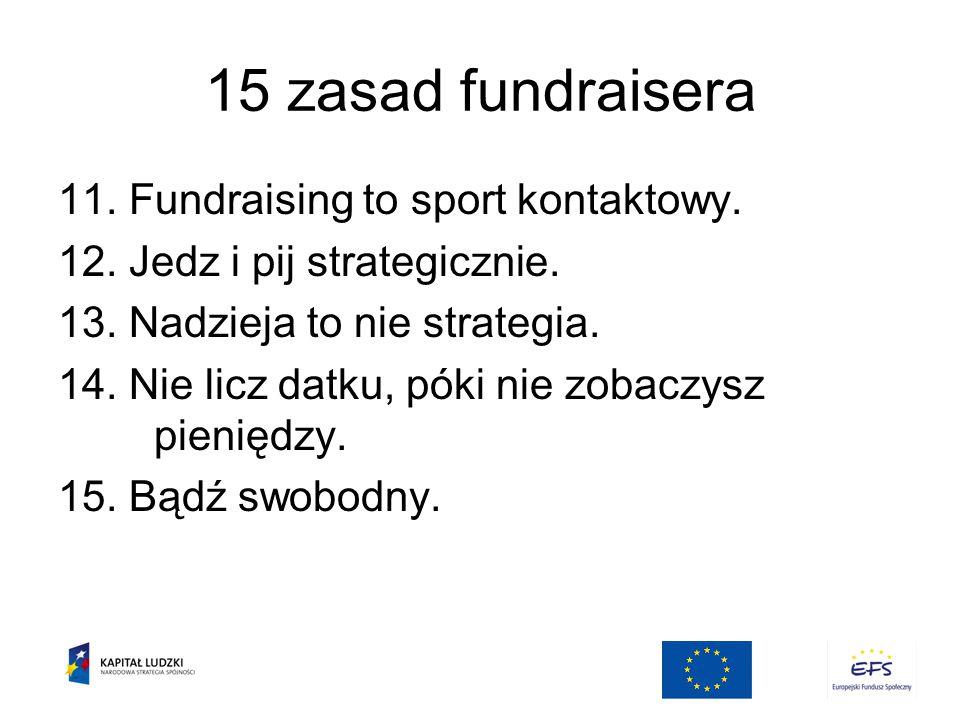 15 zasad fundraisera