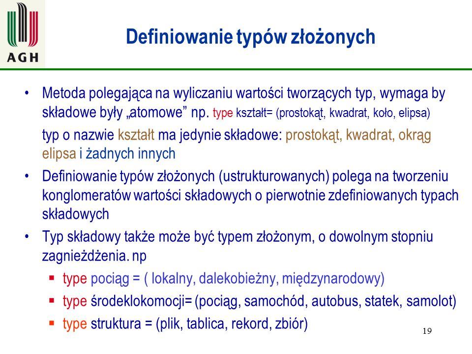 Definiowanie typów złożonych