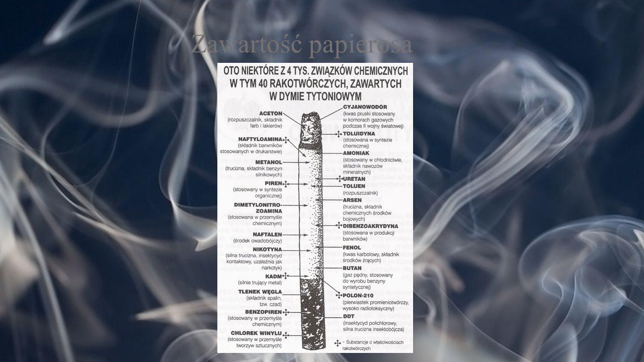 Zawartość papierosa