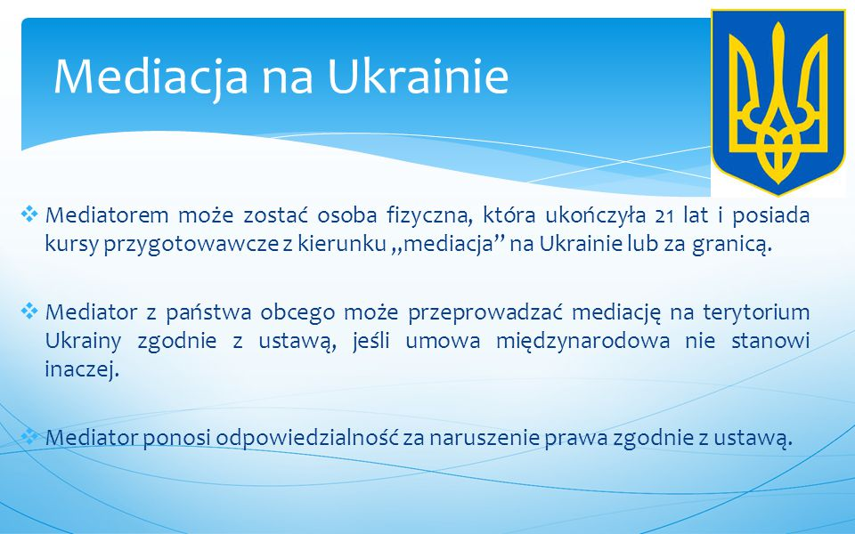 Mediacja na Ukrainie