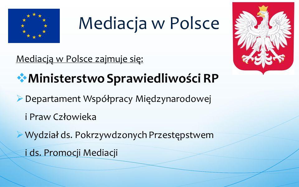 Mediacja w Polsce Ministerstwo Sprawiedliwości RP