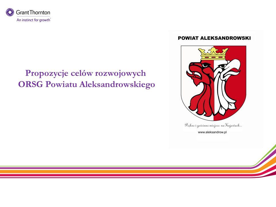 Propozycje celów rozwojowych ORSG Powiatu Aleksandrowskiego