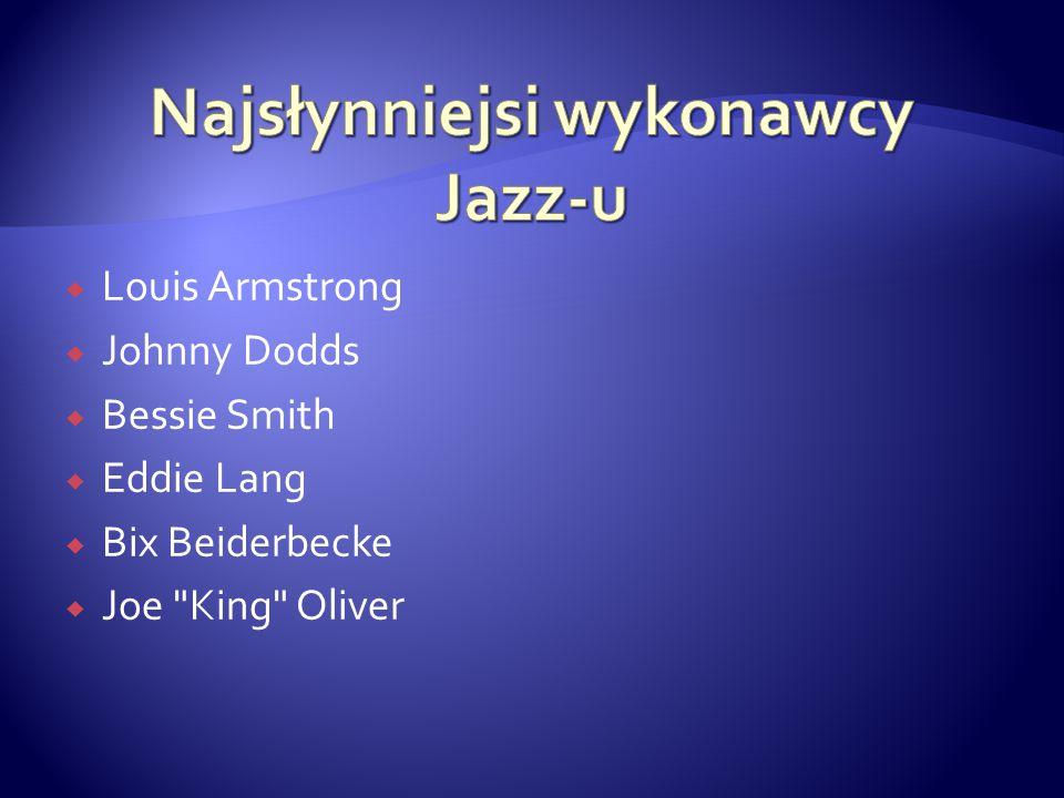 Najsłynniejsi wykonawcy Jazz-u