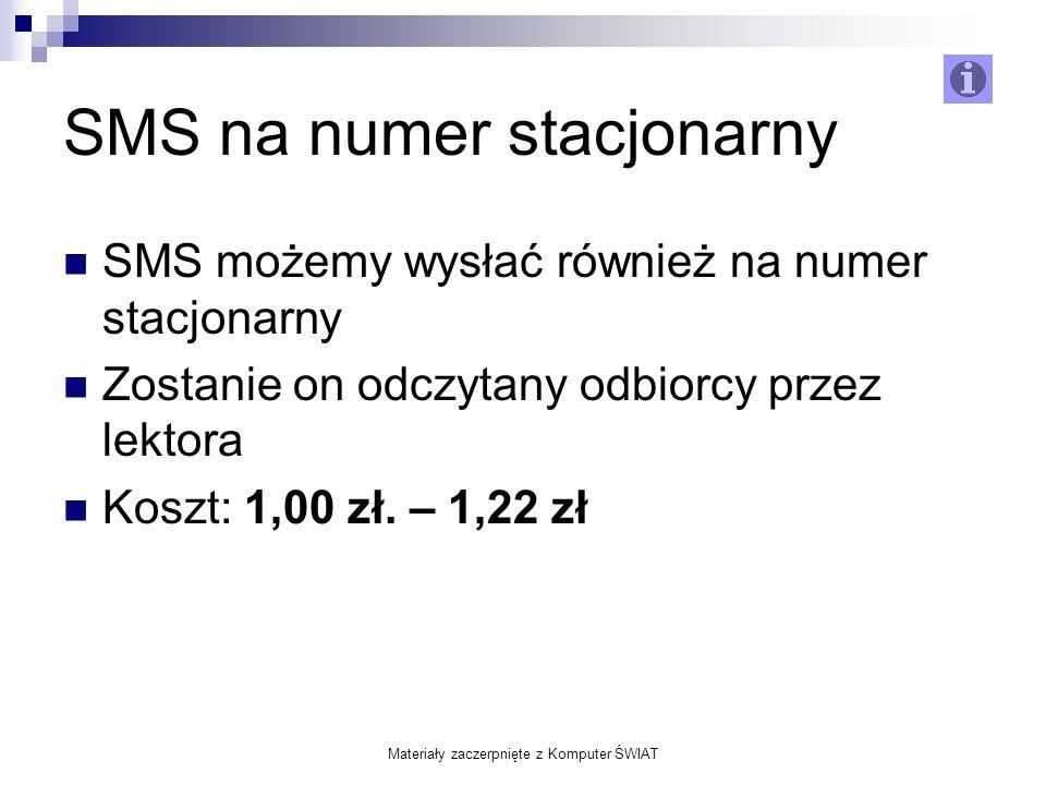 SMS na numer stacjonarny