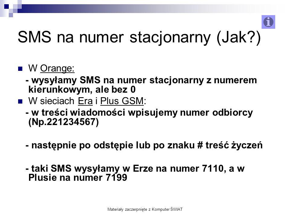 SMS na numer stacjonarny (Jak )