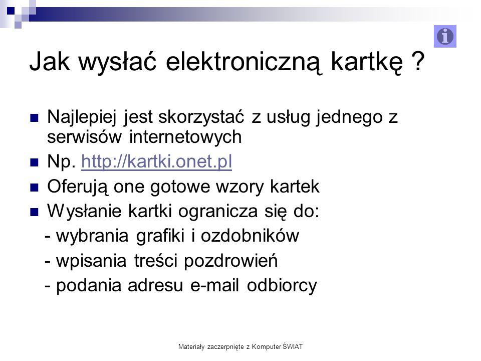 Jak wysłać elektroniczną kartkę