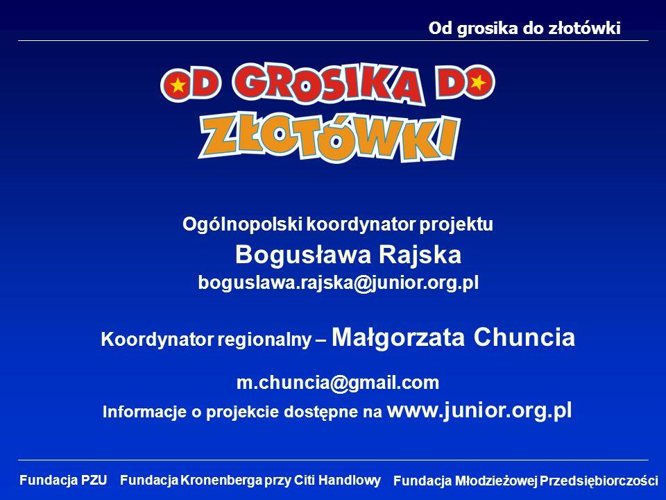 Ogólnopolski koordynator projektu Bogusława Rajska