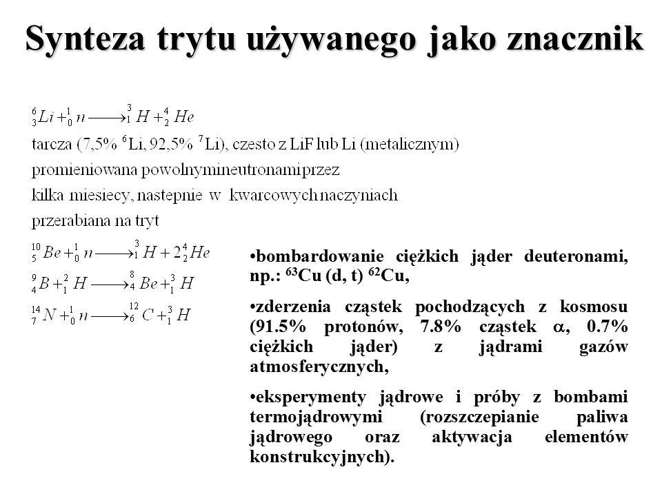 Synteza trytu używanego jako znacznik