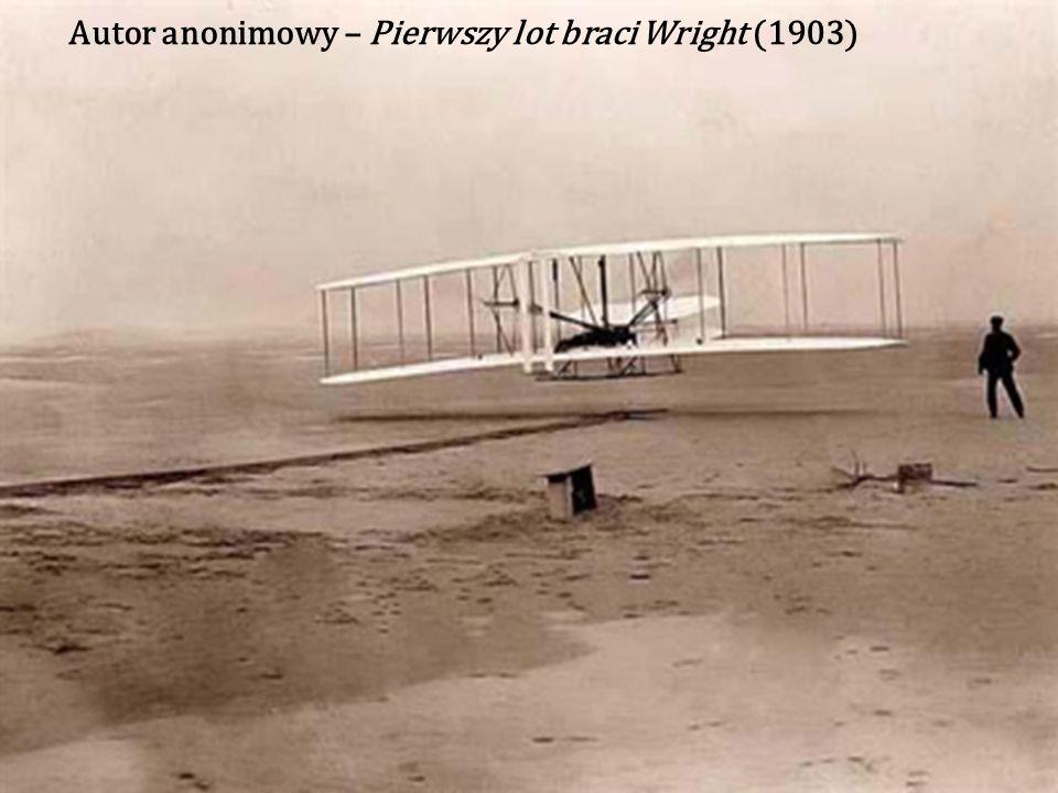 Autor anonimowy – Pierwszy lot braci Wright (1903)