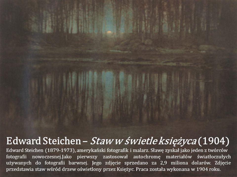 Edward Steichen – Staw w świetle księżyca (1904)