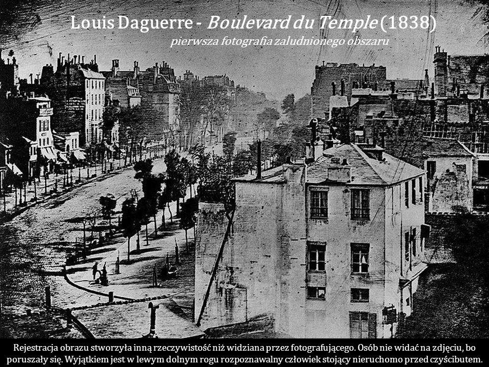 Louis Daguerre - Boulevard du Temple (1838)