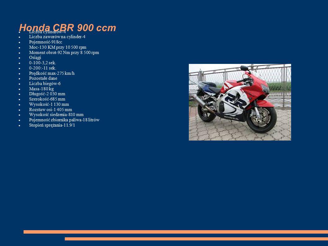 Honda CBR 900 ccm Liczba cylindrów-4 Liczba zaworów na cylinder-4