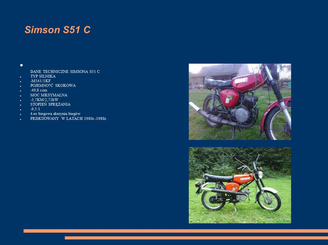 DANE TECHNICZNE SIMSONA S51 C