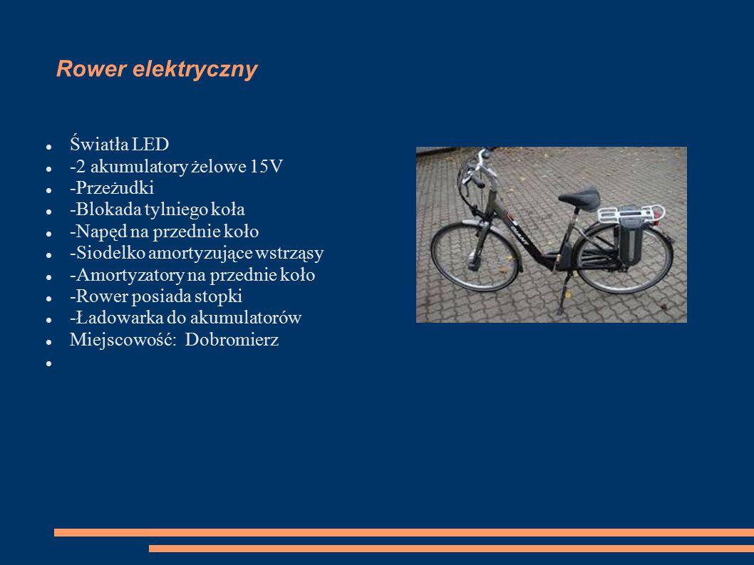Rower elektryczny Światła LED -2 akumulatory żelowe 15V -Przeżudki