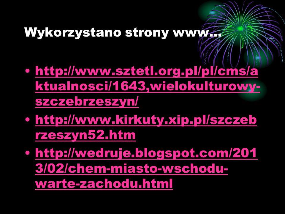Wykorzystano strony www…