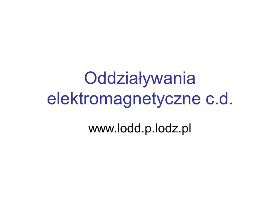 Oddziaływania elektromagnetyczne c.d.