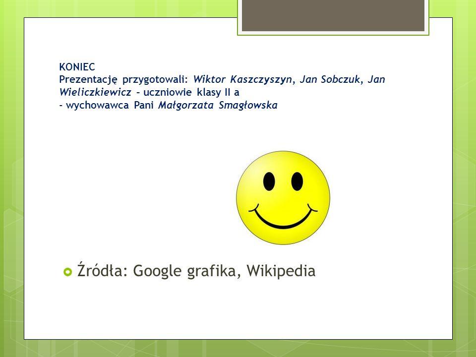 Źródła: Google grafika, Wikipedia