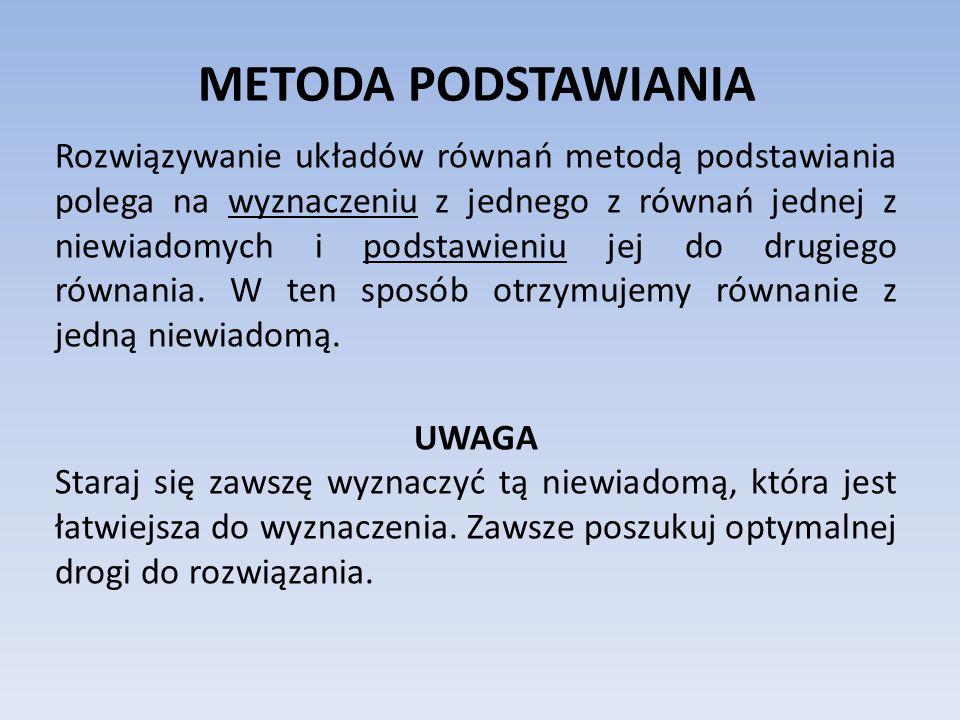 METODA PODSTAWIANIA