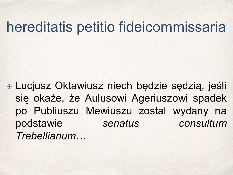 hereditatis petitio fideicommissaria