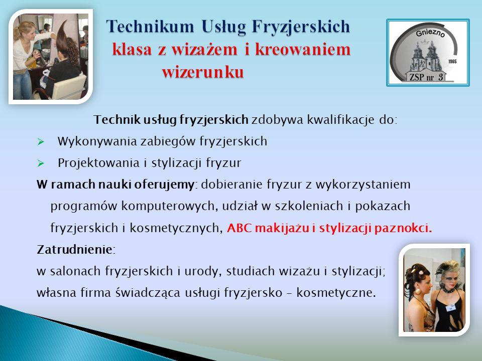 Technikum Usług Fryzjerskich klasa z wizażem i kreowaniem wizerunku