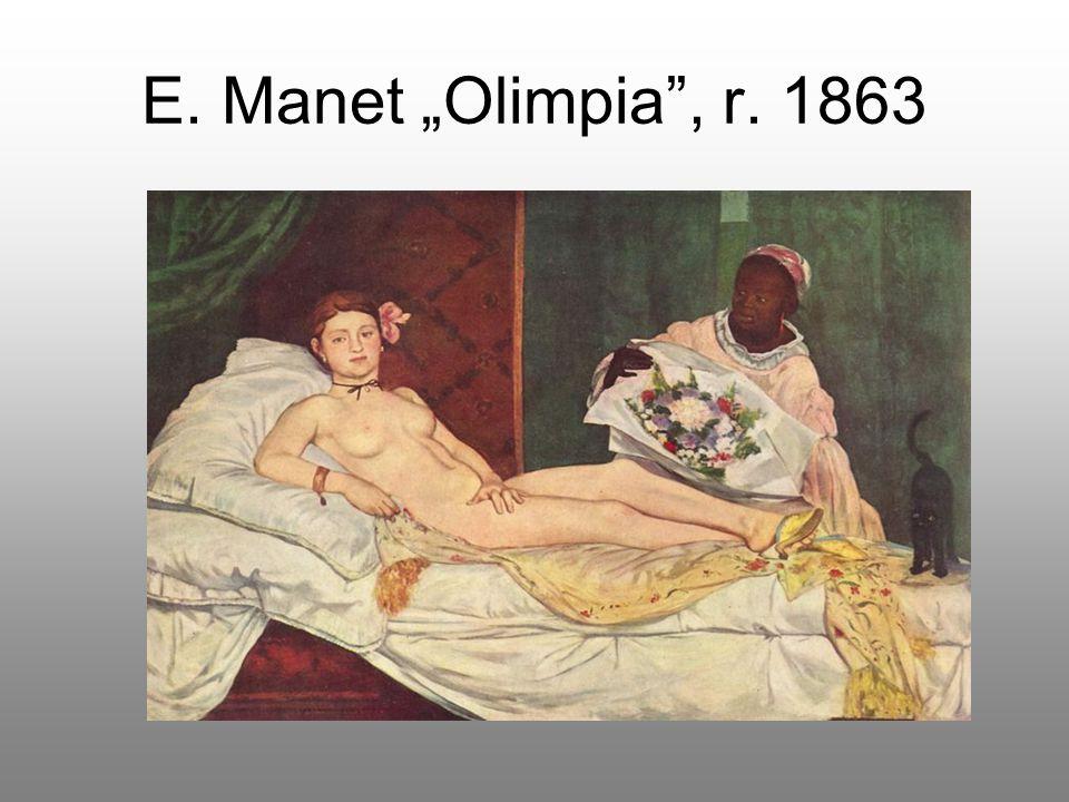 "E. Manet ""Olimpia , r. 1863"