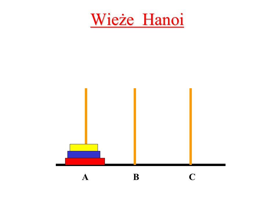 Wieże Hanoi A B C