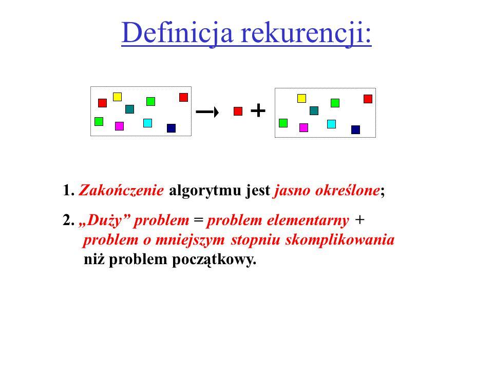 Definicja rekurencji: