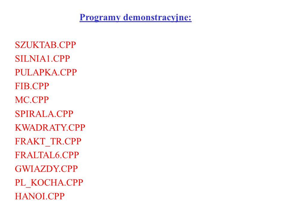 Programy demonstracyjne: