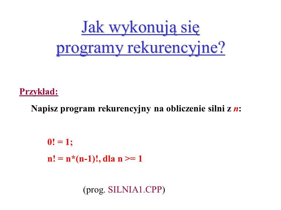 Jak wykonują się programy rekurencyjne