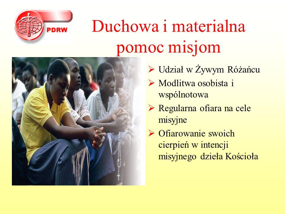 Duchowa i materialna pomoc misjom